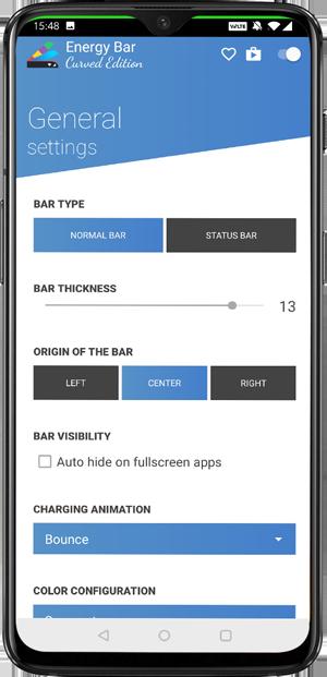 best notch apps- Energy bar