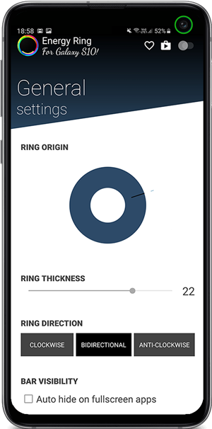 best notch apps- Energy ring